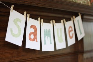 baby shower banner on a budget