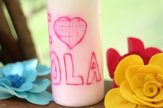 our DIY personalized candle for Grandma