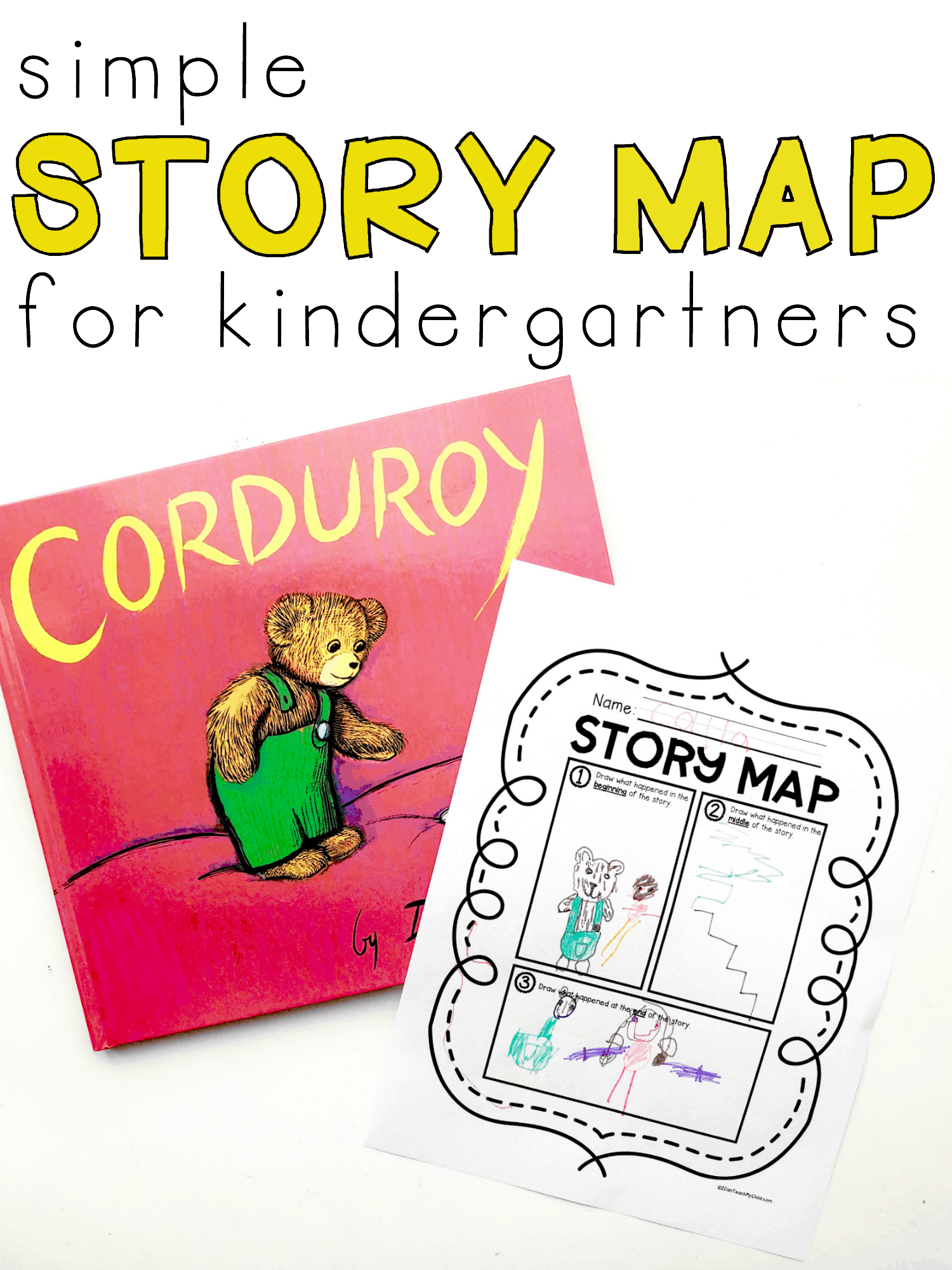 photo relating to Printable Story Map identify Basic Tale Map Printable for Kindergartners - I Can Educate