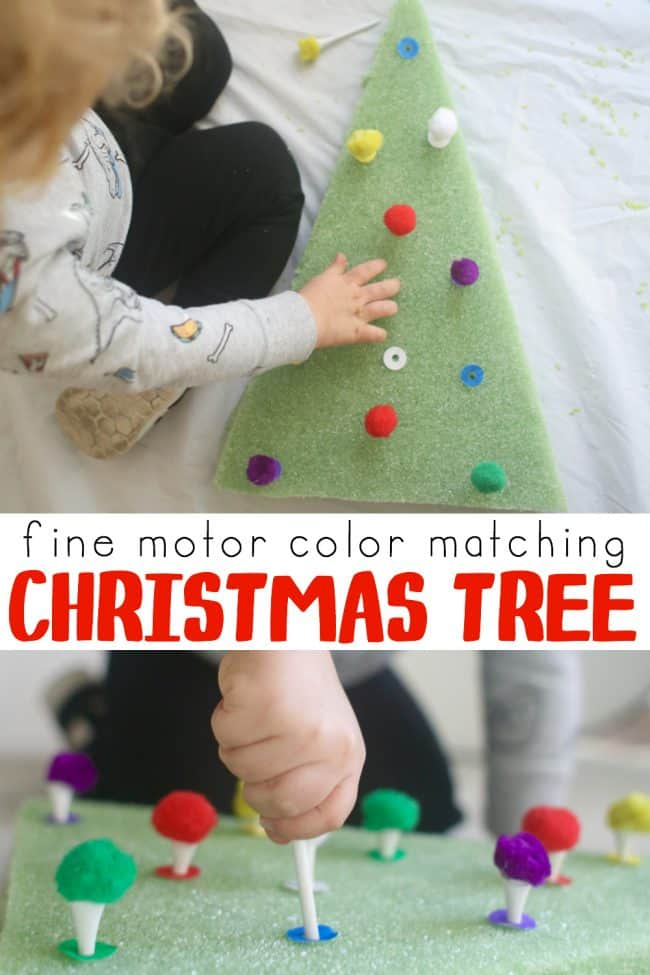 Color Matching Christmas Tree for Toddlers