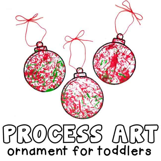 Process Art Ornament for Toddlers