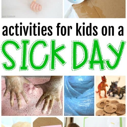 Activities for Kids on a Sick Day