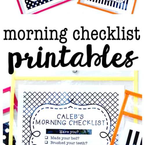 Morning Checklist Printables